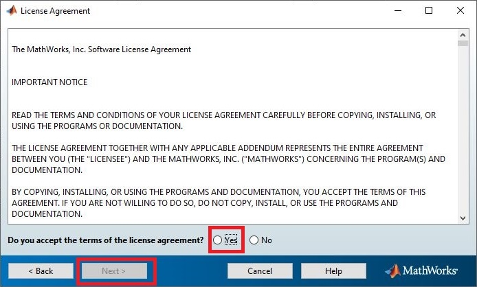 2. License Agreement MATLAB