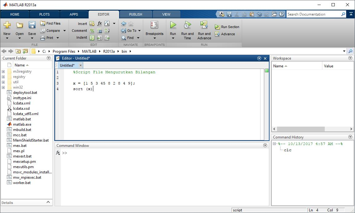 Contoh Script File