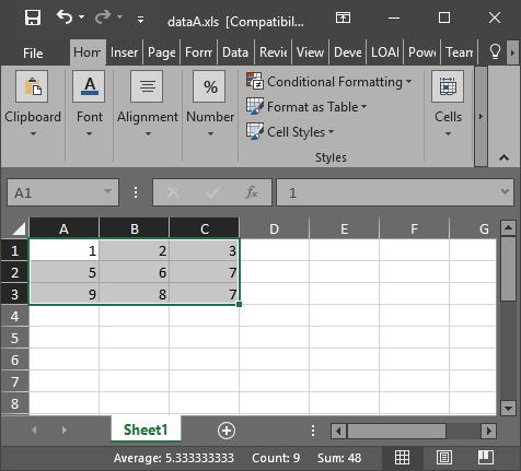 Data Export Excel Pada MATLAB