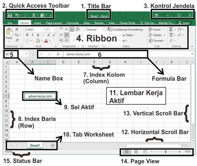 Pengertian Workbook Pada Excel Cara Membuat Fungsi Dan Bagiannya