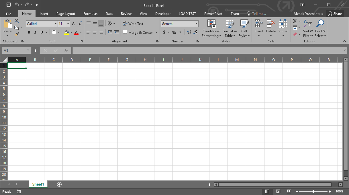 Jendela Microsoft Excel