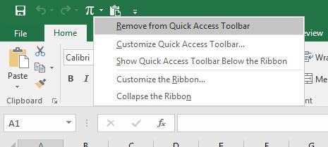 Menghapus icon pada quick access toolbar dengan mudah