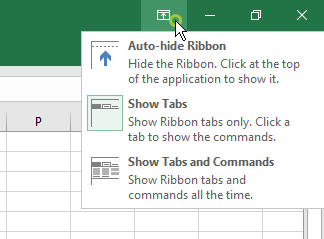 Ribbon Display Options