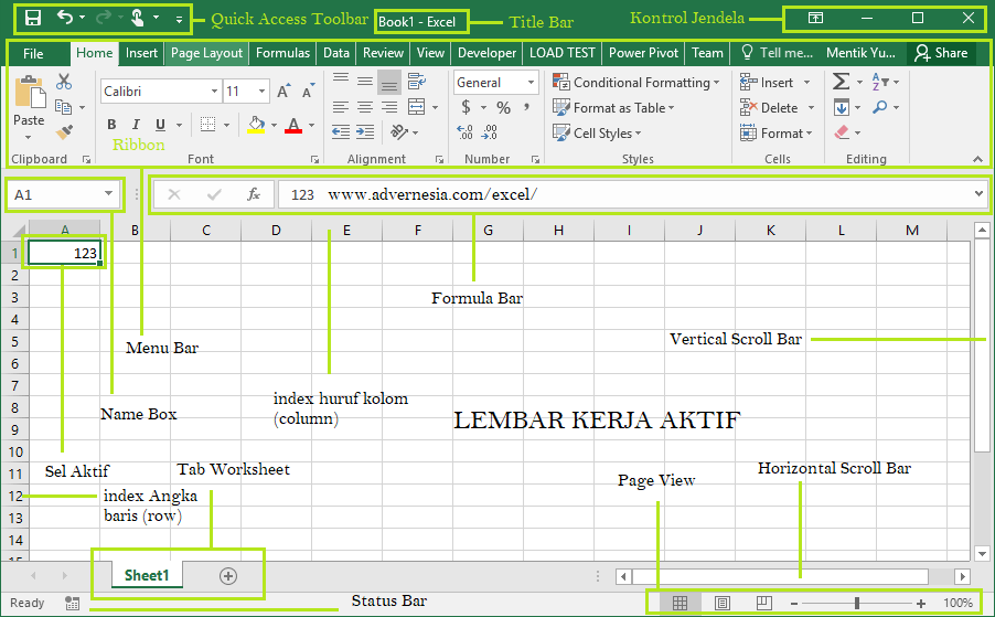 Workbook Pada Microsoft Excel