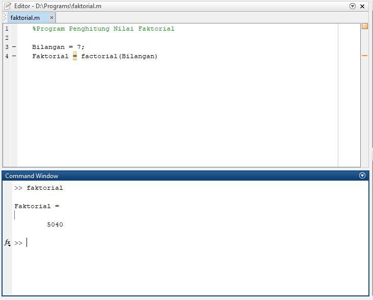 variabel pada script file