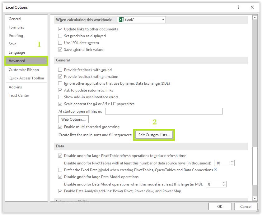 Cara Menambah Kustom List AutoFill Pada Excel