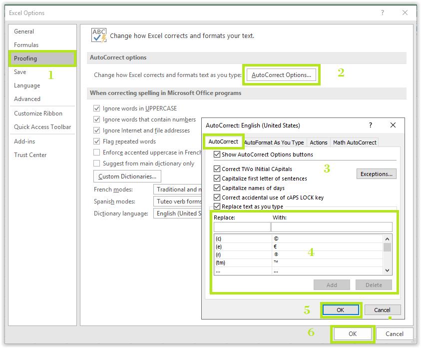 Jendela Excel Options