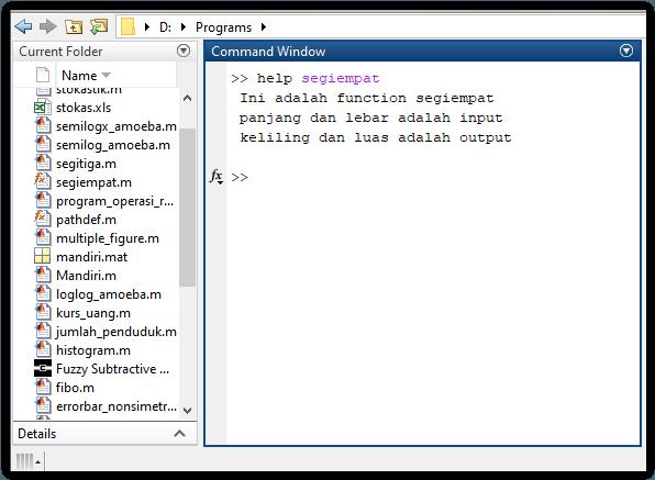 Cara menggunakan perintah help pada functionqCara menggunakan perintah help pada function