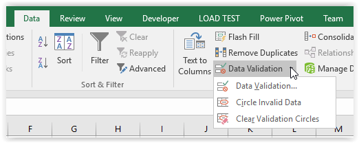 Data Validation Button
