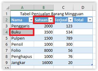 Menambah baris dan kolom di Excel