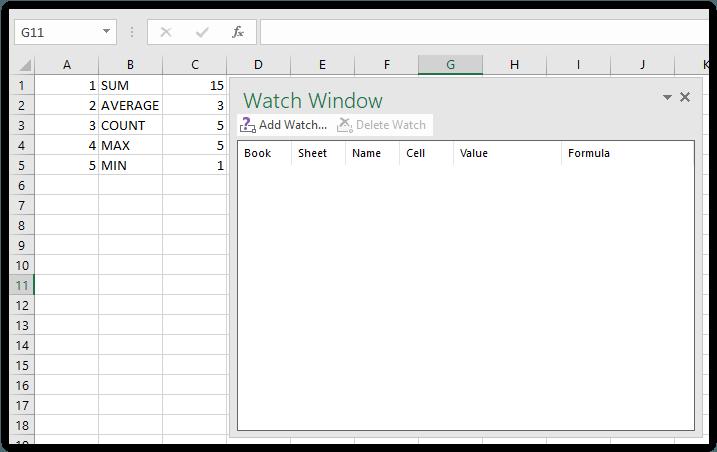 Watch Window pada Excel