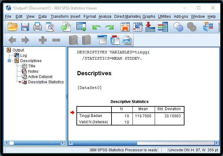 Cara menghitung mean dan standar deviasi dengan spss advernesia jendela output mean dan standar deviasi ccuart Gallery