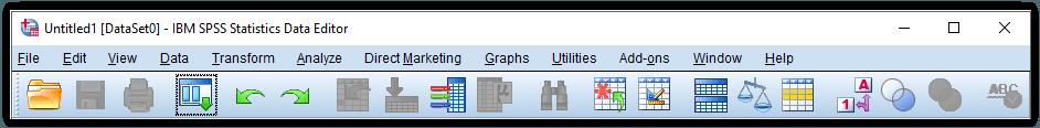 toolbar pada SPSS