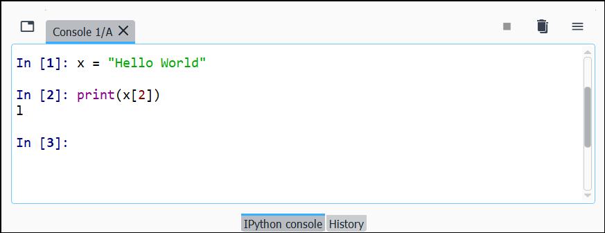 Contoh Menampilkan Index String Python
