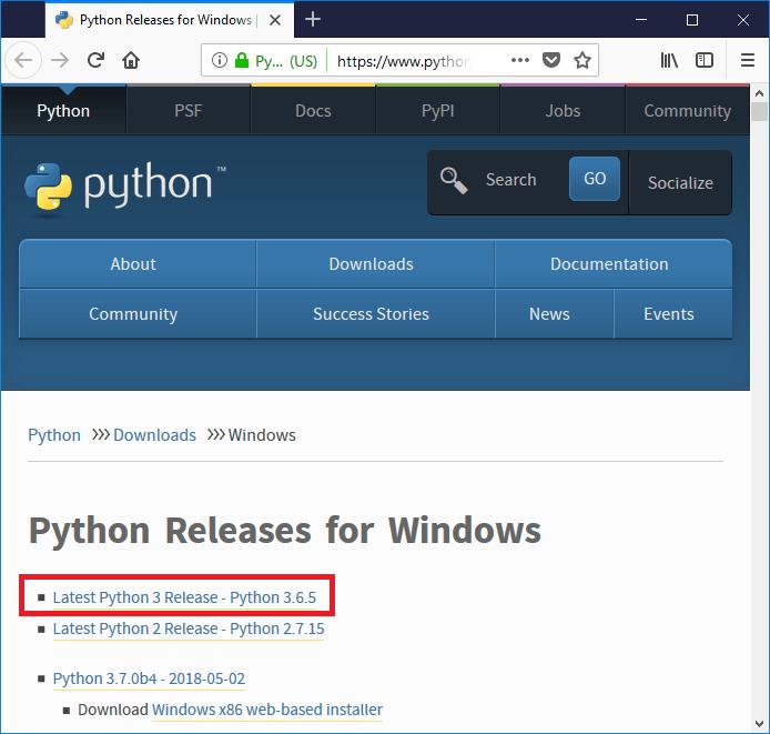 Memilih versi Python