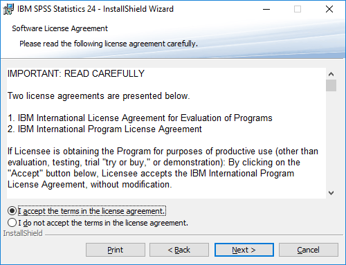 SPSS licensi Agreement