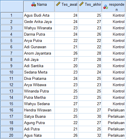 contoh data homogenitas spss