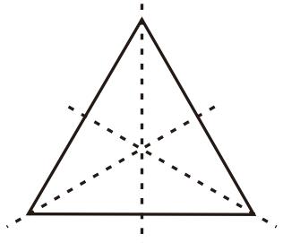 Sumbu simetri pada segitiga sama sisi