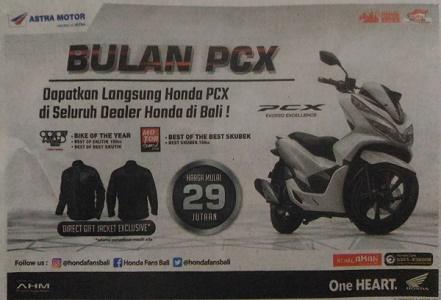 Iklan Motor di Surat Kabar