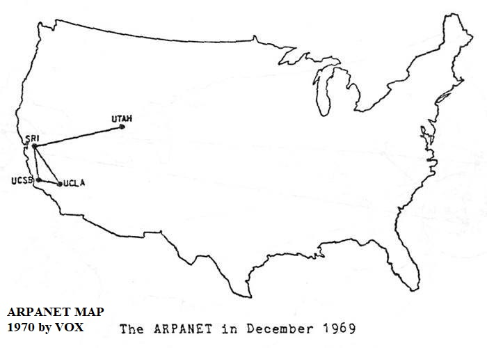ARPANET: Lokasi sistem komputer pertama, gambar oleh VOX 1970