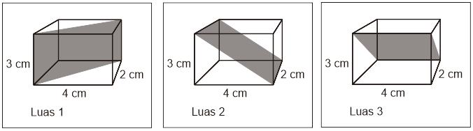 Gambar luas bidang diagonal balok