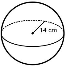 Hitunglah luas permukaan bola yang mempunyai jari-jari 14 cm