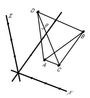 Contoh: Bangun Ruang Limas Segitiga dalam koordinat kartesius di R³