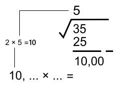 2x nilai akar ekstraksi desimal