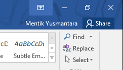 Kontrol Jendela Microsoft Word