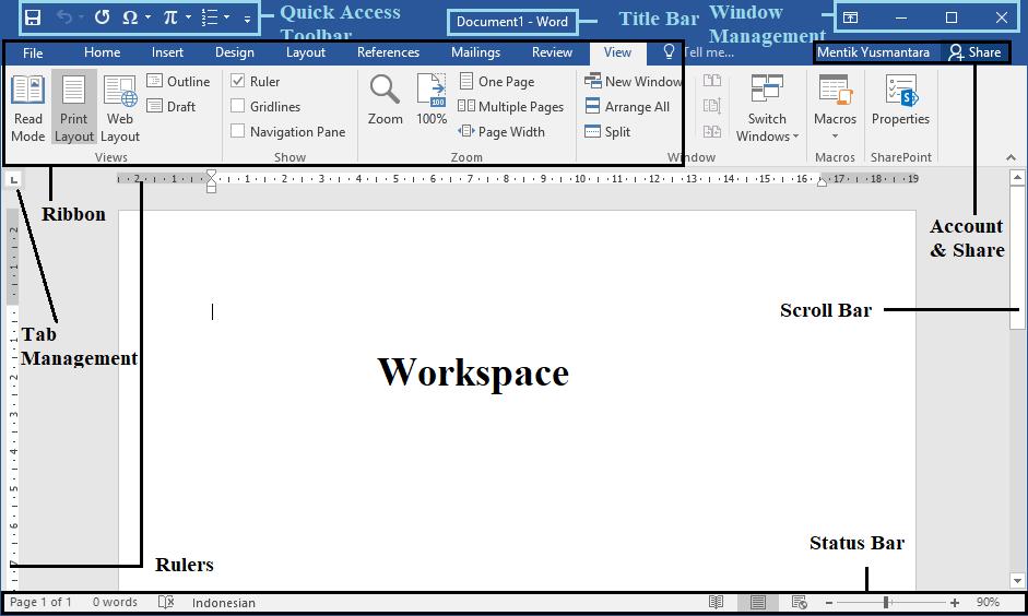 Tampilan Microsoft Office 2016