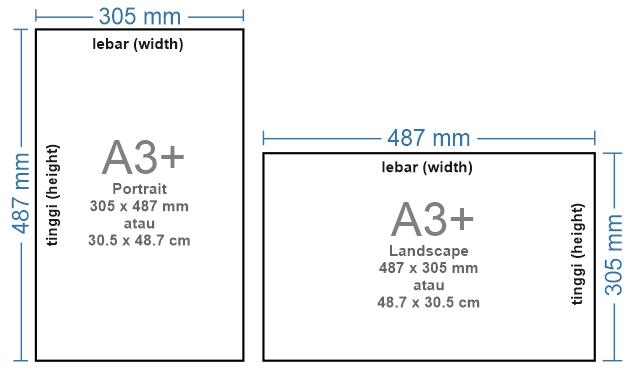 Ukuran kertas A3 Plus (A3+)
