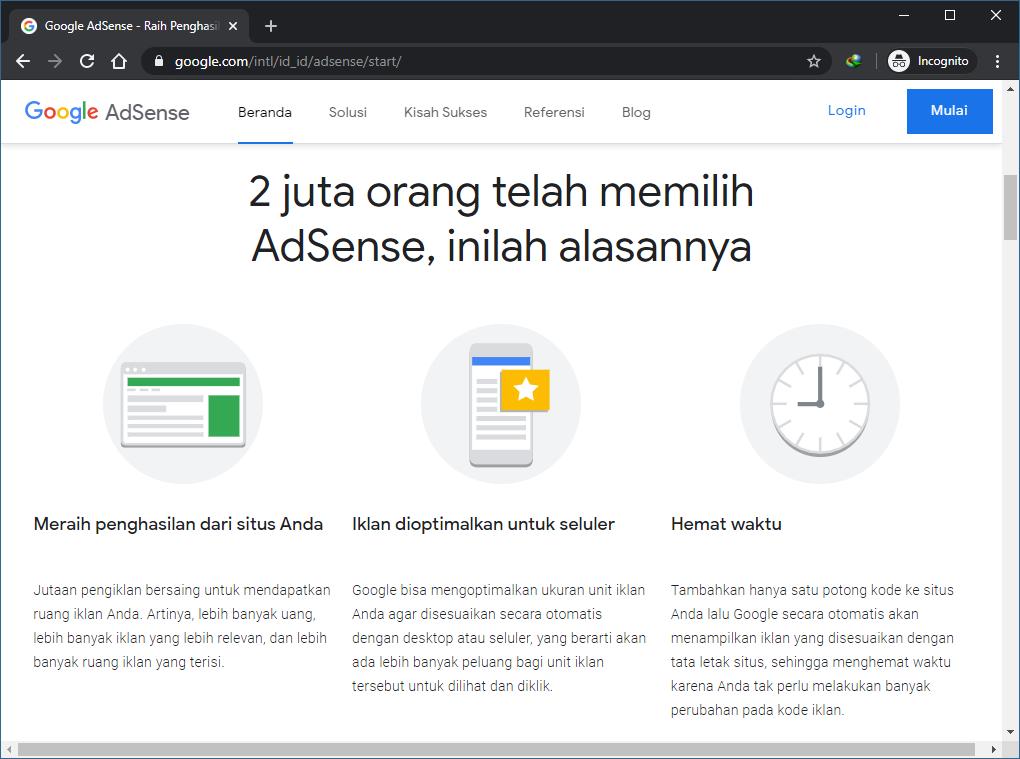 Menghasilkan Uang dari Blog dengan Google AdSense