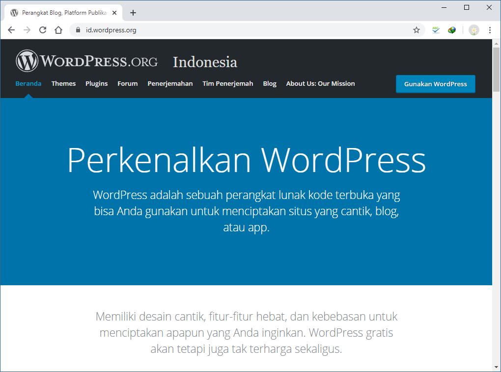 Platform WordPress untuk Membuat Blog