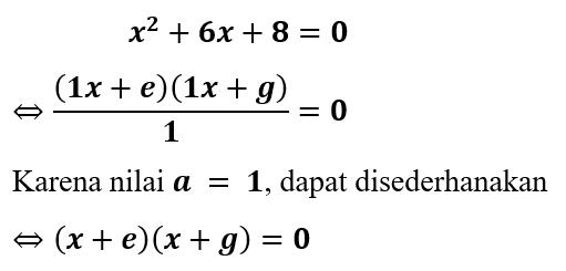 Contoh 1 Faktorisasi - Kesamaan Bentuk