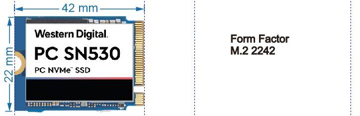 SSD NVMe Form Factor M.2 2242