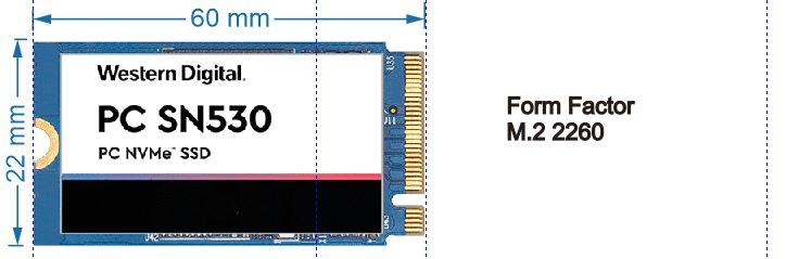 SSD NVMe Form Factor M.2 2260