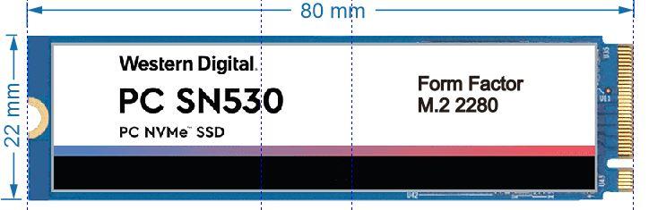 SSD NVMe Form Factor M.2 2280