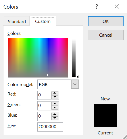 Custom Colors pada Efek Outline