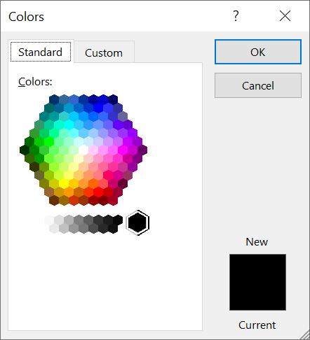 Standar Colors pada Efek Outline