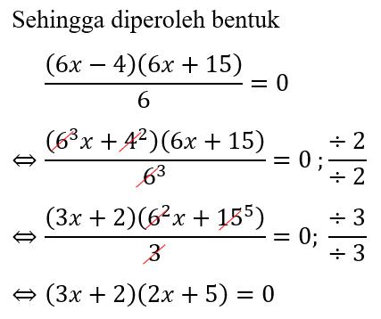 Contoh 2 Hasil Faktorisasi Trinomial