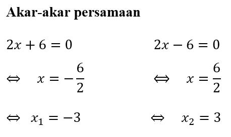 Contoh 2 Solusi Akar-Akar Persamaan dengan Faktorisasi Selisih Dua Kuadrat
