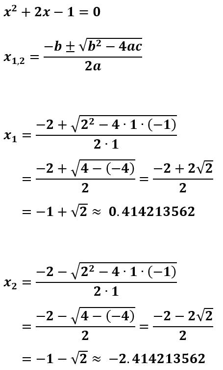 Contoh 2 Cara Menggunakan Rumus ABC untuk Menghitung Akar-Akar Persamaan Kuadrat