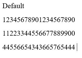 Contoh Number Style Default di Microsoft Word