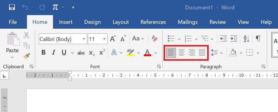 Ilustrasi Perintah Alignment di Microsoft Word