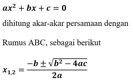 Rumus ABC