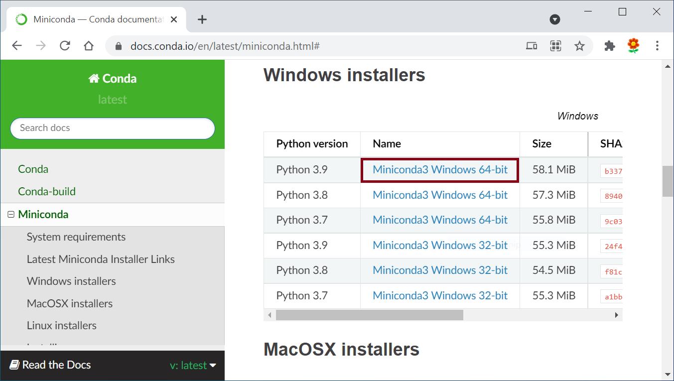 Download Miniconda