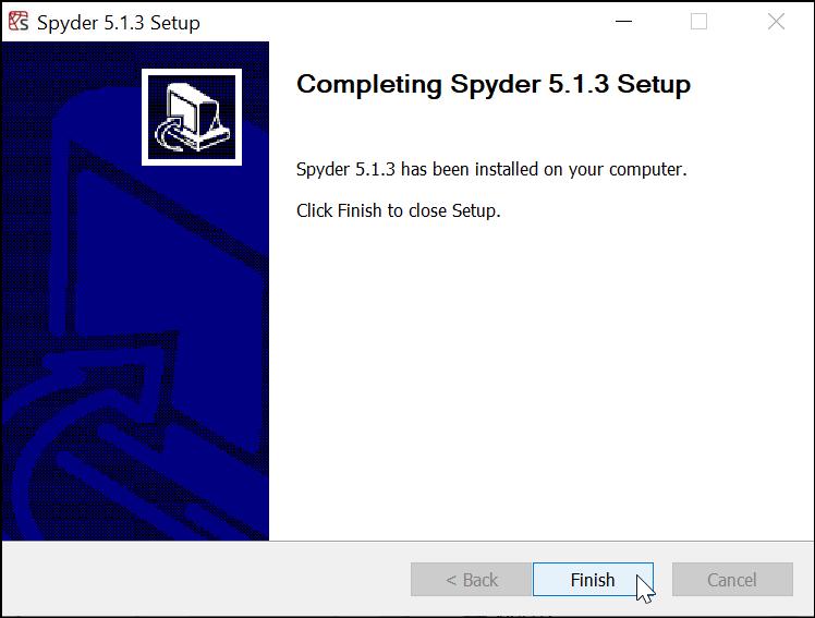 Spyder IDE telah Terpasang